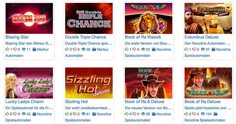 Die Aktuellen Novoline Spiele können auf Automaten-Slots.com gespielt werden
